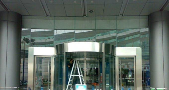 Round Automatic Curved Sliding Door , hotel auto sliding glass door