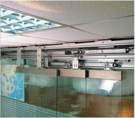 ประเทศจีน Office building commercial Telescopic Sliding Door 3*100kgs - 6*100kgs 120W Motor ผู้ผลิต