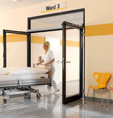 ประเทศจีน Hospital Automatic Swing Door Opener Support Sliding / articulated arm ผู้ผลิต